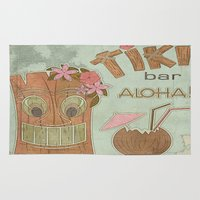 aloha Area & Throw Rugs featuring Aloha by Robin Curtiss