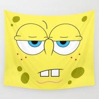 spongebob Wall Tapestries featuring SpongeBob by Thorin