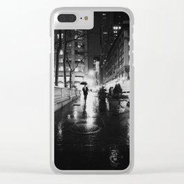 New York City Noir Clear iPhone Case