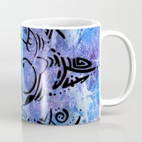 n7 Mugs featuring Lucky goes pop n7 by Lucky art