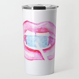 Neon Lolli Lips Travel Mug