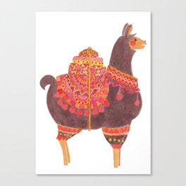 The Lovely Llama Canvas Print