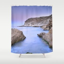 """Blue Volcano"" Shower Curtain"