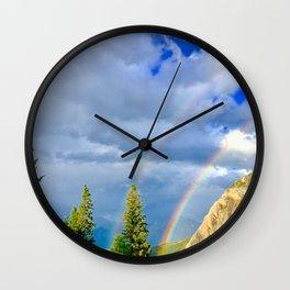 Canadian Rocky Rainbow Wall Clock