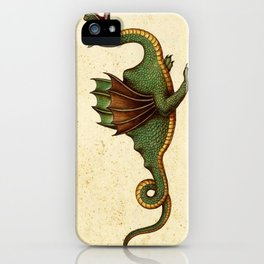 Medieval Green Dragon iPhone Case