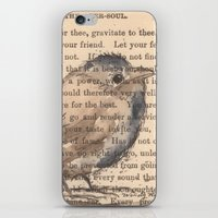 waldo iPhone & iPod Skins featuring Ralph Waldo Emerson Bird by Wendy Roscoe Designs