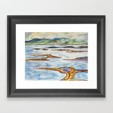 Irish sea Framed Art Print
