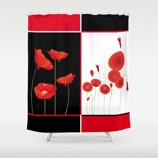 Graceful Poppies Shower Curtain