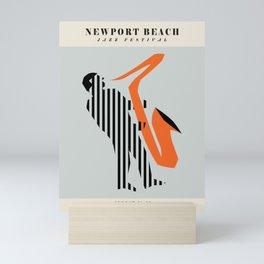 Vintage poster-Jazz festival-Newport beach 2. Mini Art Print