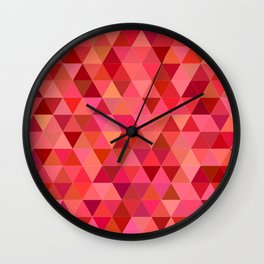 Red triangle tiles Wall Clock