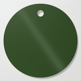 Solid Dark Forest Green Simple Solid Color All Over Print Cutting Board