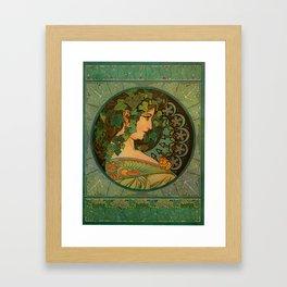 "Alphonse Mucha ""Ivy"" Framed Art Print"
