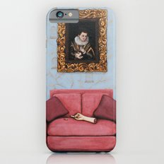 Portrait of a Stymied Lady and her Dog iPhone 6s Slim Case