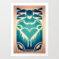 gotham Art Prints featuring Gotham by Lazare Gvimradze
