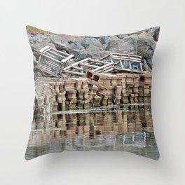 Left Behind Throw Pillow