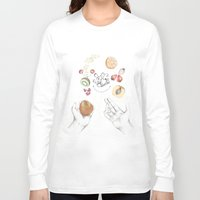 cooking Long Sleeve T-shirts featuring Happy Cooking by Ana Mendes