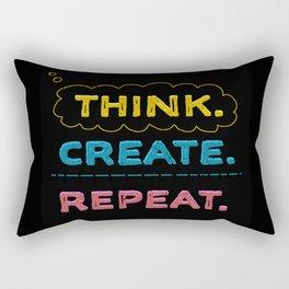 Think. Create. Repeat.  Rectangular Pillow