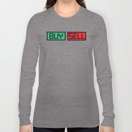 Buy Sell Buttons Long Sleeve T-shirt
