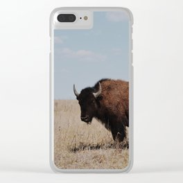 Big Horn Bison Clear iPhone Case