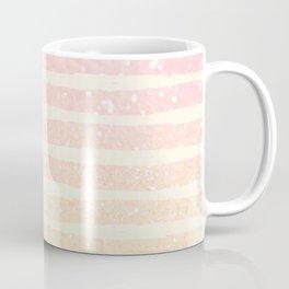 Glitter Wave Pink Sparkle Ombre Stripe Coffee Mug