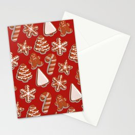 Gingerbread Cookies Stationery Cards