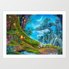 Day Moon Haven Art Print
