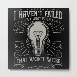 Light Bulb Gift Idea Design Motif Metal Print