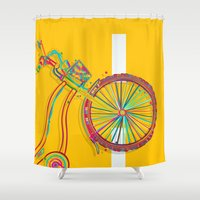 bike Shower Curtains featuring Bike by Rceeh