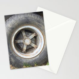 Truck Wheel Stationery Cards