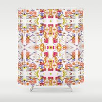 fairy tale Shower Curtains featuring Russian winter fairy tale by ARTDROID
