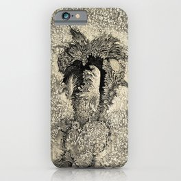 Engraving: A typical sun-spot, after Langley iPhone Case