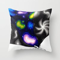 reading Throw Pillows featuring Reading by BevyArt