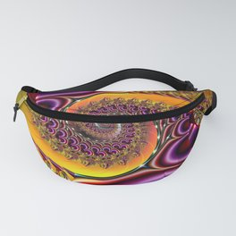 SPIRAL PURPLE/RED/YELOW Fanny Pack