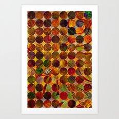 Circles Pattern 3 Art Print