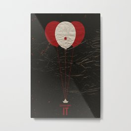 Pennywise the Clown - Stephen King's IT Inspired vintage movie poster Metal Print