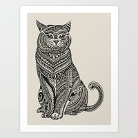 british Art Prints featuring Polynesian British Shorthair cat by Huebucket