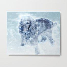 Winter Puppy Metal Print