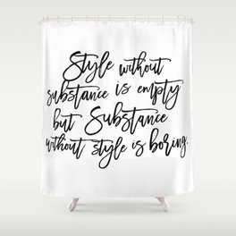 Style & Substance Shower Curtain