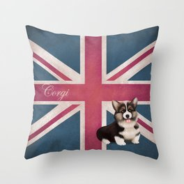 Royal Corgi Baby Throw Pillow