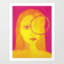 mirada en pixeles Art Print