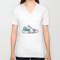 sneakers V-neck T-shirts featuring SNEAKERS COLLECTION by Vincent Battault