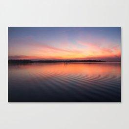 Beautiful lake at summer sunset Canvas Print