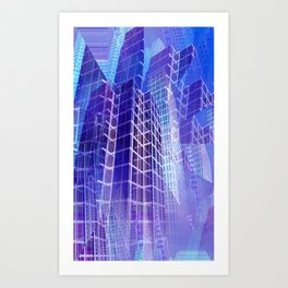 illusory city life -01- Art Print