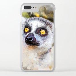 Lemur #lemur #animals Clear iPhone Case
