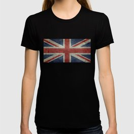 England's Union Jack flag of the United Kingdom - Vintage 1:2 scale version T-shirt