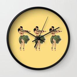 Hula Girls Hula Girl Dancing the Hula - Sand Wall Clock