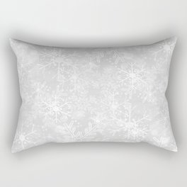 Silver Snowflakes Rectangular Pillow