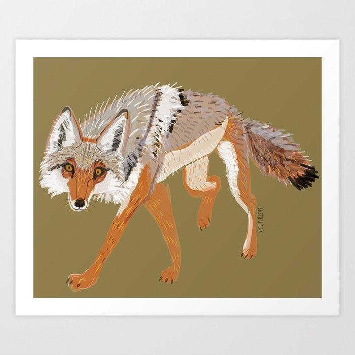 Totem Coyote Canis latrans (c) 2017 Art Print