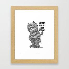 Love you so Framed Art Print