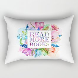 Read More Books Pastel Rectangular Pillow